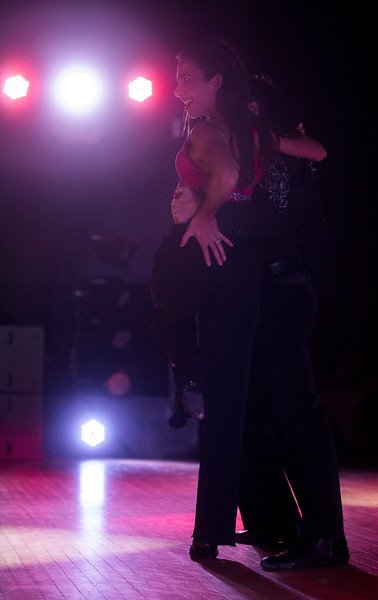 Becky Martinez and Benjamin Bridge pose at the end of a number at Stargazers Theater on Sunday, Oct. 8, 2017.<br /> <br /> (The Gazette, Nadav Soroker)
