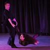 Toby Munroe swings his wife Harmony Munroe during a ballroom dance performance at Stargazers Theater on Sunday, Oct. 8, 2017.<br /> <br /> (The Gazette, Nadav Soroker)