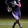 Widefield quarterback Tj Davis runs the ball at Widefield on Friday, Oct. 13, 2017. Widefield won 28-24.<br /> <br /> (The Gazette, Nadav Soroker)