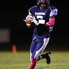 Widefield quarterback Tj Davis looks for an open receiver at CA Foster Widefield on Friday, Oct. 13, 2017. Davis ran in the Gladiator's first run during their first possession.<br /> <br /> (The Gazette, Nadav Soroker)