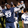 Widefield senior Evan Jones thanks fans after defeating Air Academy at Widefield on Friday, Oct. 13, 2017. Widefield won 28-24.<br /> <br /> (The Gazette, Nadav Soroker)