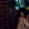 Maree Elmore, Chris Roybal's girlfriend, cries in her friend's arms at Roybal's memorial in Colorado Springs, Colo. on Sunday, Oct. 15, 2017. Roybal was general manager at a Crunch Fitness in Colorado Springs, and was a victim of the Las Vegas shooting.<br /> <br /> <br /> (The Gazette, Nadav Soroker)