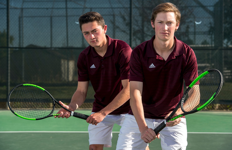 Michael Dashiell and Grant Leap from Cheyenne Mountain High School are the Prep Sports Peak Performers for the week. Photographed on Monday, Oct. 16, 2017.<br /> <br /> <br /> (The Gazette, Nadav Soroker)