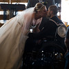 Tessa Thomas kissed her husband, Naval Petty Officer 3rd class Colin Thomas, after renewing their wedding vows at the New Life Church on Friday, Oct. 20, 2017. Colin suffers from stage 4 pancreatic cancer which forced him from the Navy.<br /> <br /> <br /> (The Gazette, Nadav Soroker)
