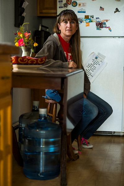 Penny Cimino lives in anxiety over potential health complications from Perfluorinated Compounds that for years were in her and her children's water supply. Photographed on Friday, Oct. 20, 2017.<br /> <br /> <br /> (The Gazette, Nadav Soroker)