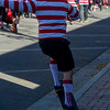 Mike Ambrose does a frontside 180 off of a curb during the Waldo Waldo 5k on Saturday, Oct. 21, 2017. Ambrose appreciated that no one officiating the fundraising fun-run had any problems with him skateboarding instead of running.<br /> <br /> (The Gazette, Nadav Soroker)
