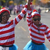 Shalicia Wright crosses the finish line of the Waldo Waldo 5k holding hands with her daughter Aubree Ware, 9, on Saturday, Oct. 21, 2017.<br /> <br /> (The Gazette, Nadav Soroker)