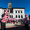 Loretta Sturgeon, left, hula-hoops for as long as possible while her friend Leah Thornton eggs her on before the Waldo Waldo 5k through downtown Colorado Springs on Saturday, Oct. 21, 2017.<br /> <br /> <br /> (The Gazette, Nadav Soroker)