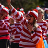 A runner from the Waldo Waldo 5k sings along to the music at the race after-party on Saturday, Oct. 21, 2017.<br /> <br /> <br /> (The Gazette, Nadav Soroker)