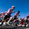 Runners in the first wave of waldos take off from the starting line at the Waldo Waldo 5k on Saturday, Oct. 21, 2017.<br /> <br /> (The Gazette, Nadav Soroker)