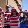 Vina Poss, left, Velvet Mackney and Lorena Chapman hold hands and sway to the music at the Waldo Waldo 5k after-party on Saturday, Oct. 21, 2017.<br /> <br /> <br /> (The Gazette, Nadav Soroker)