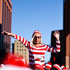 Christie Pachoka dances on the shoulders of Keith Roehl while waiting for a group picture at the Waldo Waldo 5k on Saturday, Oct. 21, 2017.<br /> <br /> <br /> (The Gazette, Nadav Soroker)