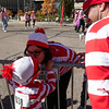 Laura Rocca bends down to give Luca Schmitt, 7, a peck on the cheek as she finishes up the Waldo Waldo 5k on Saturday, Oct. 21, 2017.<br /> <br /> <br /> (The Gazette, Nadav Soroker)