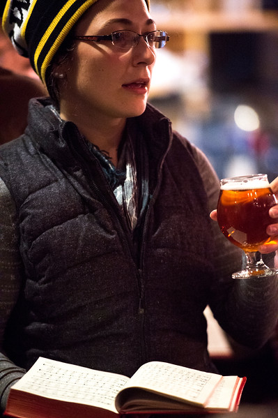 Christine Carter<br /> <br /> Worshippers gathered to drink beer and sing hymns in the Wild Goose Meeting House in Colorado Springs, Colo. on Sunday, Oct. 22, 2017.<br /> <br /> <br /> (The Gazette, Nadav Soroker)