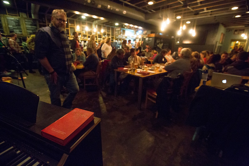 Worshippers gathered to drink beer and sing hymns in the Wild Goose Meeting House in Colorado Springs, Colo. on Sunday, Oct. 22, 2017.<br /> <br /> <br /> (The Gazette, Nadav Soroker)