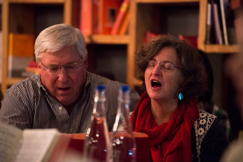 Robert and Lane Arnold<br /> <br /> Worshippers gathered to drink beer and sing hymns in the Wild Goose Meeting House in Colorado Springs, Colo. on Sunday, Oct. 22, 2017.<br /> <br /> <br /> (The Gazette, Nadav Soroker)