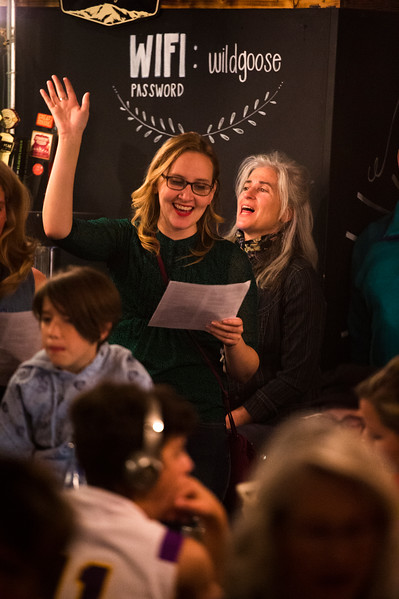 Asst. Pastor Jennifer Rutter and Joy Maples<br /> <br /> Worshippers gathered to drink beer and sing hymns in the Wild Goose Meeting House in Colorado Springs, Colo. on Sunday, Oct. 22, 2017.<br /> <br /> <br /> (The Gazette, Nadav Soroker)