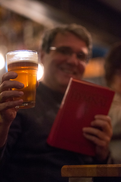 Mark Woods<br /> <br /> Worshippers gathered to drink beer and sing hymns in the Wild Goose Meeting House in Colorado Springs, Colo. on Sunday, Oct. 22, 2017.<br /> <br /> <br /> (The Gazette, Nadav Soroker)