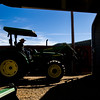 Glenn Ryan runs loads of hay from the back of a trailer into a small shed for storage at AG Ranch in Bailey, Colo. on Tuesday, Oct. 24, 2017.<br /> <br /> <br /> (The Gazette, Nadav Soroker)