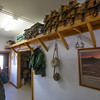 Glenn Ryan looks at different mounting harnesses for the mules that he runs out of AG Ranch in Bailey, Colo. on Tuesday, Oct. 24, 2017. His mules are used to haul supplies like gravel, lumber and tools into workspaces that trucks and ATVs can't reach.<br /> <br /> <br /> (The Gazette, Nadav Soroker)