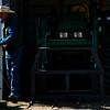 Glenn Ryan unplugs the tractor to unload a delivery of hay at AG Ranch in Bailey, Colo. on Tuesday, Oct. 24, 2017.<br /> <br /> <br /> (The Gazette, Nadav Soroker)
