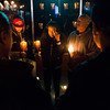 Charmaine Jones, center, wipes away her tears surrounded by her family members at the vigil for her brother Conte Smith-El on Friday, Nov. 3, 2017. Smith-El was killed at a business on East Platte avenue on Monday night, Oct. 30.