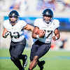 Army Black Knights quarterback Ahmad Bradshaw (17) runs the ball at Falcon Stadium on Saturday, Nov. 4, 2017. The Black Knights lead 14-0 at half time.