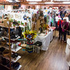 Visitors navigate through the densely-packed Black Forest Arts and Crafts Guild fall boutique with works from all the guild members on display at the Black Forest Community Hub, Sunday, November 5, 2017.