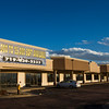 A large banner advertises space in the Mission Trace shopping center in Southeast Colorado Springs. Photographed Sunday, November 5, 2017.