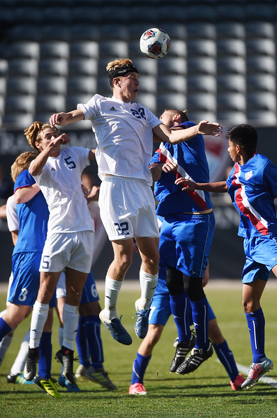 The Air Academy Kadets defeated the Centaurus Warriors 1-0 in overtime at Dicks Sporting Goods Field in Denver, Colo. on Saturday, Nov. 11, 2017. The Cadets are the Colorado 4A state champions.