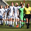 The Air Academy Kadets walk onto the field for their championship game against the Centaurus Warriors at Dick's Sporting Goods Field in Denver, Colo. on Saturday, Nov. 11, 2017. The Kadets defeated the Warriors 1-0 in overtime and are the Colorado 4A state champions.