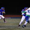 Fountain-Fort Carson senior Eric Donnell runs the ball as his teammate James Sanders blocks for him at Fountain-Fort Carson on Friday, Sept. 29, 2017.<br /> <br /> (The Gazette, Nadav Soroker)