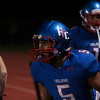 Fountain-Fort Carson senior Eric Donnell walks back to his team after running in a touchdown at Fountain-Fort Carson on Friday, Sept. 29, 2017. <br /> <br /> (The Gazette, Nadav Soroker)