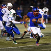 Trojan Eric Donnell runs in a touchdown against the Doherty Spartans at Fountain-Fort Carson on Friday, Sept. 29, 2017.<br /> <br /> (The Gazette, Nadav Soroker)