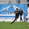 Rony Argueta passes the ball at Wiedner Field on Saturday, Sept. 30, 2017. The switchbacks took the lead 2-0 in the first half.<br /> <br /> (The Gazette, Nadav Soroker)