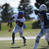 Eric Donnell avoids Pine Creek players at Liberty High School in Colorado Springs, Colo. on Saturday, Sept. 16, 2017.<br /> <br /> (The Gazette, Nadav Soroker)