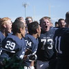 Adam Weaver shouts with his team after they beat the Fort Carson Trojans 21-7 at Liberty High School in Colorado Springs, Colo. on Saturday, Sept. 16, 2017.<br /> <br /> (The Gazette, Nadav Soroker)