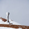 Frost rimes a telescope at the summit of Pikes Peak on Friday, Sept. 29, 2017.<br /> <br /> (The Gazette, Nadav Soroker)