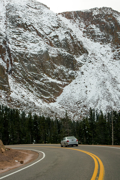 Snow caps Pikes Peak on Friday, Sept. 29, 2017.<br /> <br /> (The Gazette, Nadav Soroker)