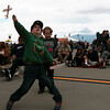 Michael Shea, 8, launches a plane at the airshow he and Will Smith, 6, put on while planes from the Pikes Peak Regional Airshow roared overhead on Saturday, Sept. 23, 2017. The two would pause their show to watch classic planes buzz the crowd.<br /> <br /> (The Gazette, Nadav Soroker)