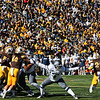Nevada place kicker Brandon Talton puts the ball through the uprights for a field goal as the Wyoming Cowboys take on the Nevada Wolf Pack Saturday, Oct. 26, 2019 at War Memorial Stadium. Wyoming defeated Nevada 31-3. Nadav Soroker/Wyoming Tribune Eagle