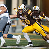 Cowboys line backer Logan Wilson snags a Wolf Pack runner as the Wyoming Cowboys take on the Nevada Wolf Pack Saturday, Oct. 26, 2019 at War Memorial Stadium. Wyoming defeated Nevada 31-3. Nadav Soroker/Wyoming Tribune Eagle