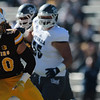 Cowboys line backer Logan Wilson faces down a Wolf Pack runner as the Wyoming Cowboys take on the Nevada Wolf Pack Saturday, Oct. 26, 2019 at War Memorial Stadium. Wyoming defeated Nevada 31-3. Nadav Soroker/Wyoming Tribune Eagle