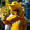 Payton Wells, 11, waits along the north end zone to cheer on the team as the Wyoming Cowboys prepare to take on the Nevada Wolf Pack Saturday, Oct. 26, 2019 at War Memorial Stadium. Nadav Soroker/Wyoming Tribune Eagle