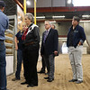 Temple Grandin, center, CSU professor and pioneer in animal handling, tours the ag center facilities while consulting on a renovation and expansion Monday, September 16, 2019 at Laramie County Community College.