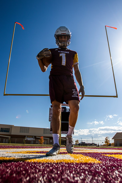 Janson Adair a wide reciever, safety and special teams player for the Plainsmen, 2019 at Laramie High School. Nadav Soroker/Laramie Boomerang
