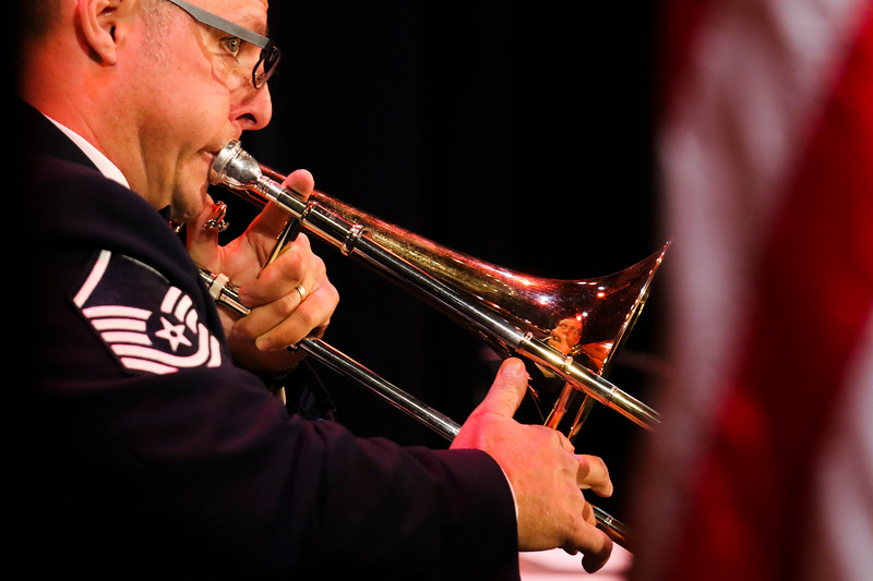 The United States Air Force Academy brass ensemble Stellar Brass performs Monday, September 30, 2019 in the Atlas Theatre. Nadav Soroker/Wyoming Tribune Eagle