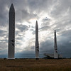 Missiles stand on display at Gate 1 of the F.E. Warren Air Force Base Monday, September 30, 2019 near the Visitor Center. Nadav Soroker/Wyoming Tribune Eagle