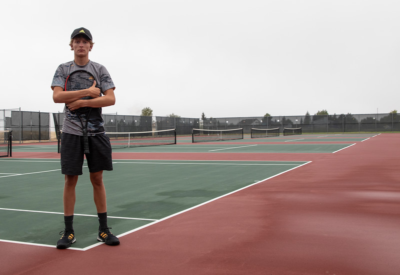 Brendan Lock, the Prep Athlete of the Week, poses for portraits at the Tennis courts, Tuesday, October 1, 2019 at Cheyenne South High School. Nadav Soroker/Wyoming Tribune Eagle