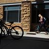 Deana Sadrieva, a freshman Chemical Engineering student, walks her bike back to the dorm after class Wednesday, October 9, 2019 at the University of Wyoming. Nadav Soroker/Laramie Boomerang